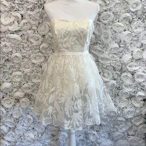 White floral dress